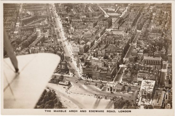 A Vintage Aerial View of Edgware Road and Marble Arch