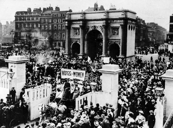 Honouring Suffragettes in Marble Arch 100 years on