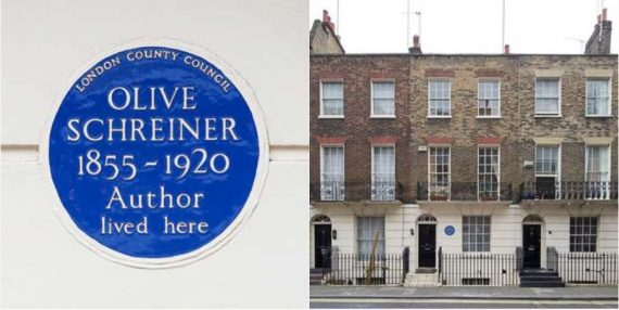 Remembering Olive Schreiner in Marble Arch