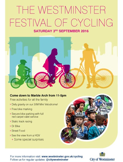 Festival of Cycling 2016 at Marble Arch