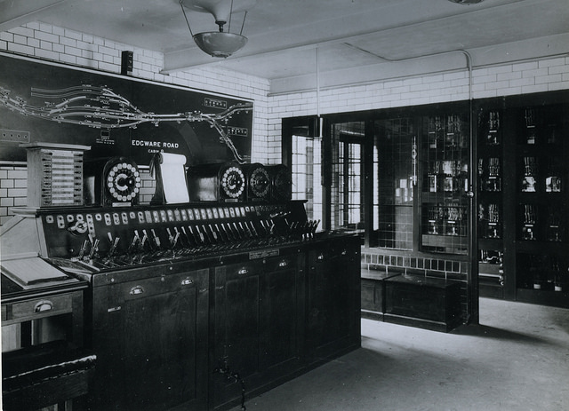 Inside Edgware Road's 1926 Signalling Cabin
