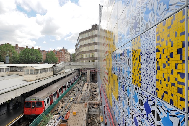 The Tube Station Wrapped In An Artwork