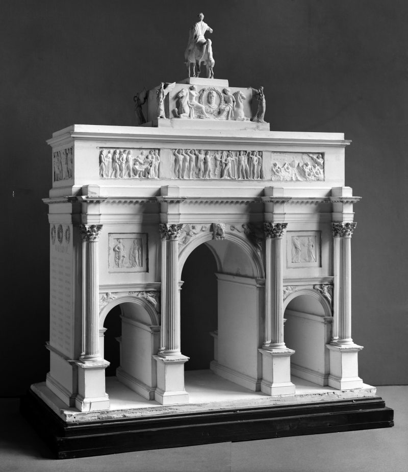 Rear view of model of Marble Arch from Victoria and Albert museum