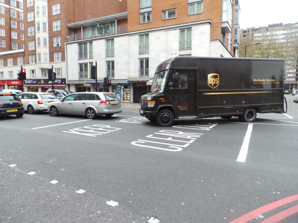 UPS delivery van Marble Arch