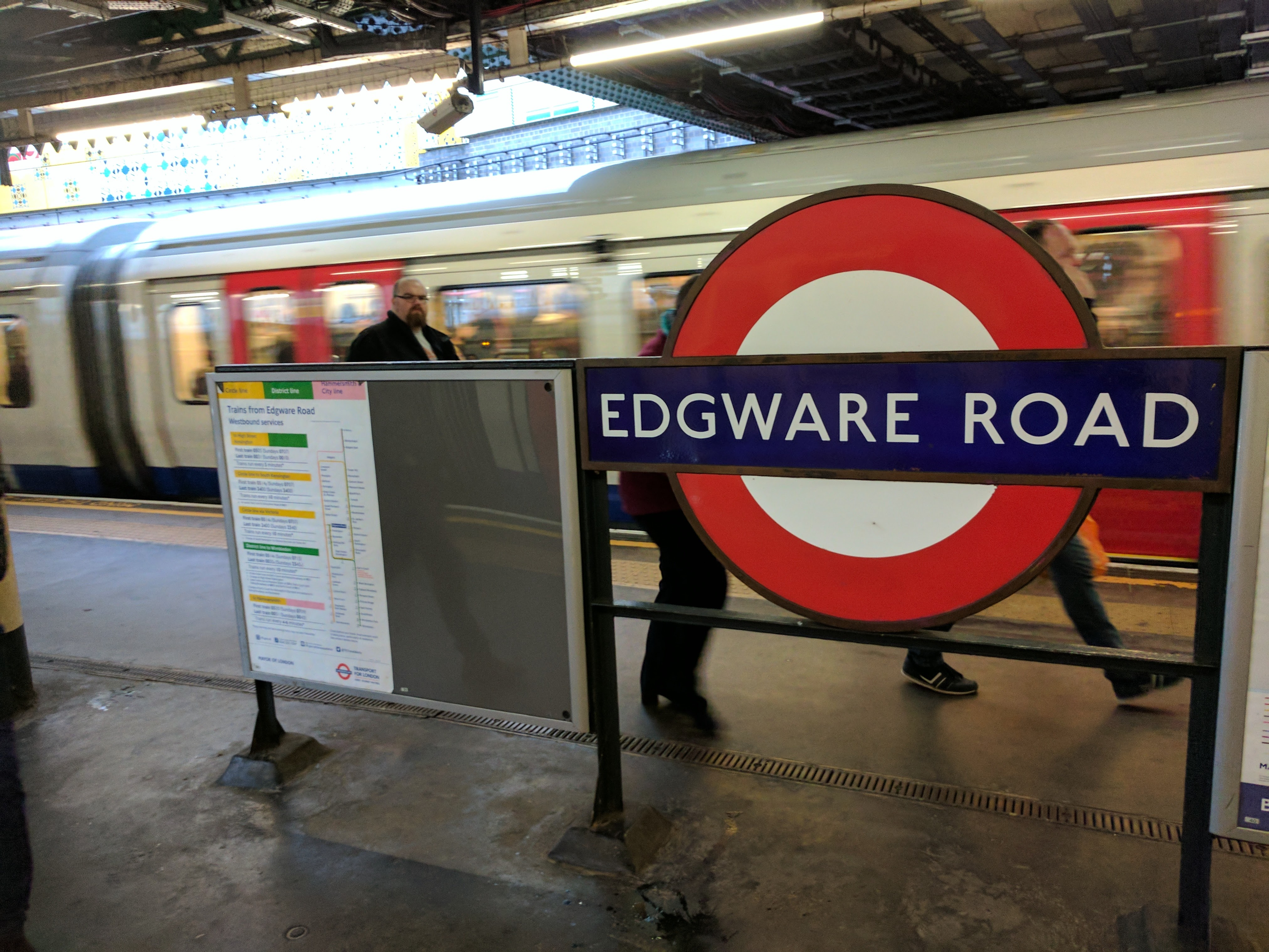 Platform changes: Edgware Road Circle line