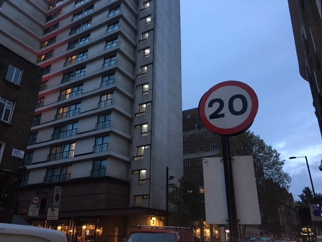 20mph speed limit trials in the Marble Arch area