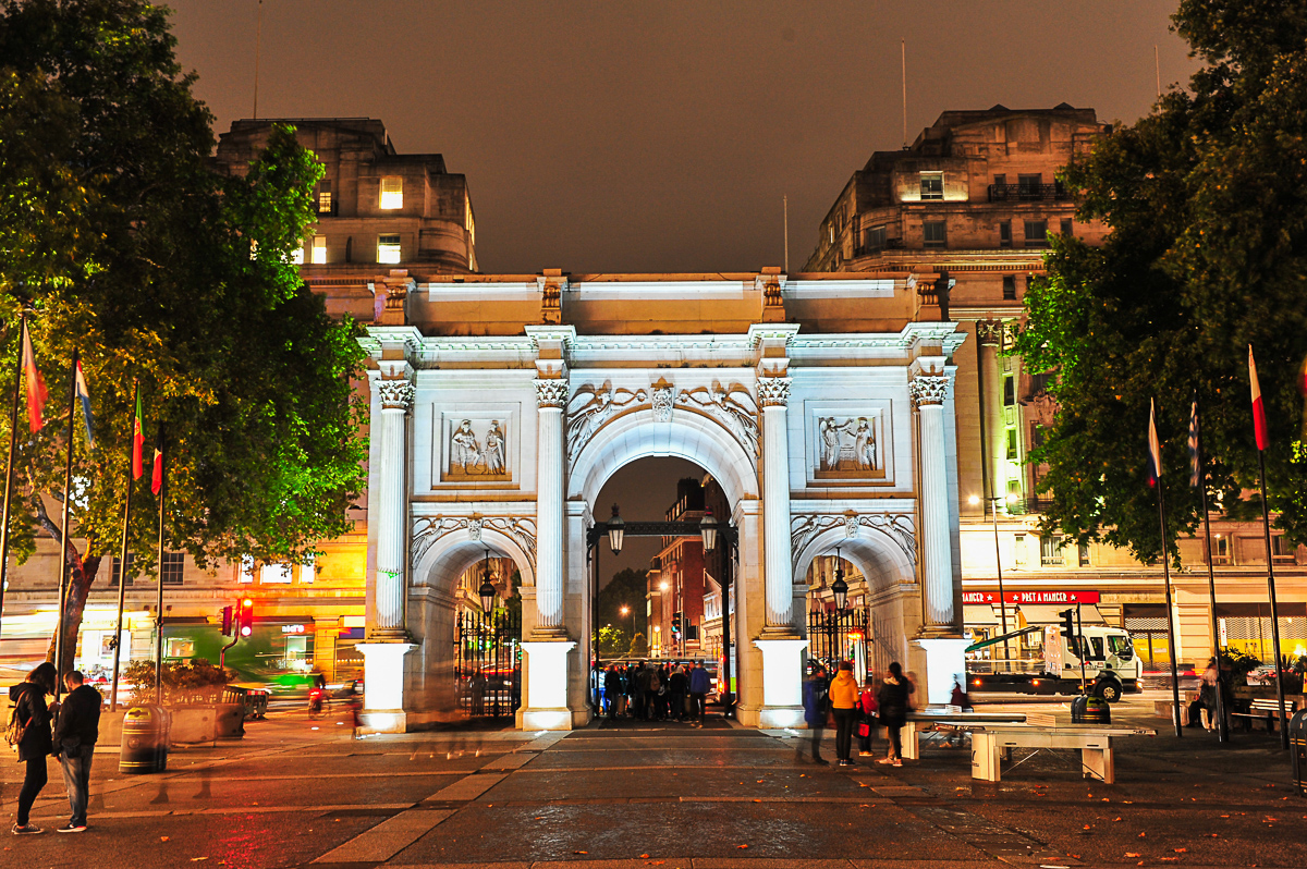 Marble Arch At Night 172 Marble Arch London Marble