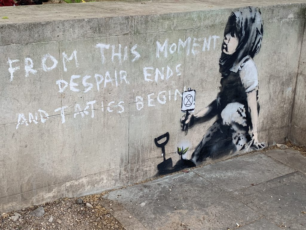 Banksy artwork at Marble Arch