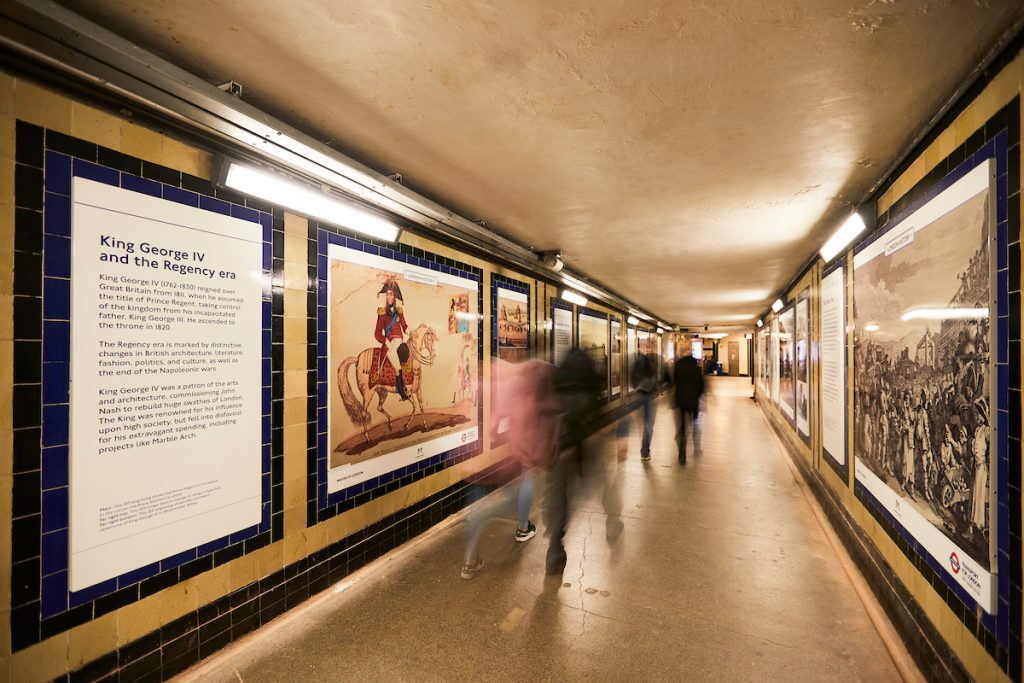 The Story of Marble Arch subway installation at Marble Arch Tube station