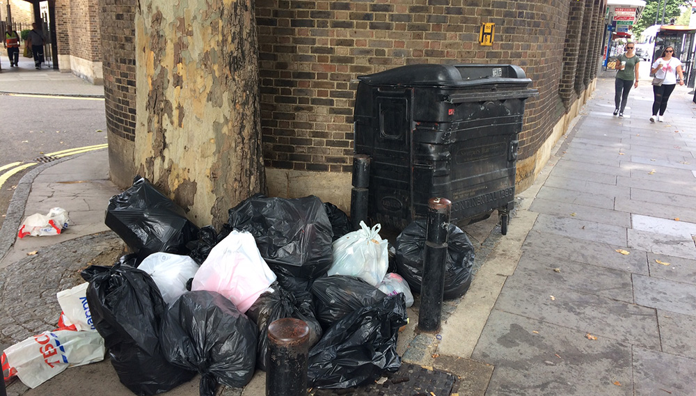Connaught Place Fly Tipping