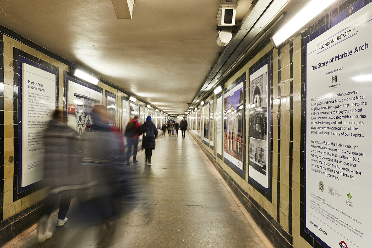 London Underground Showcases The Story of Marble Arch