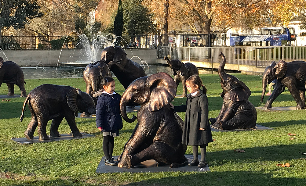Unveiling The Orphans Elephants of Tomorrow Sculpture at Marble Arch