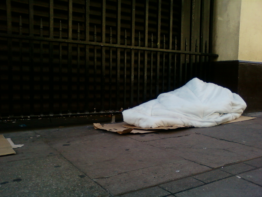 London rough sleeper