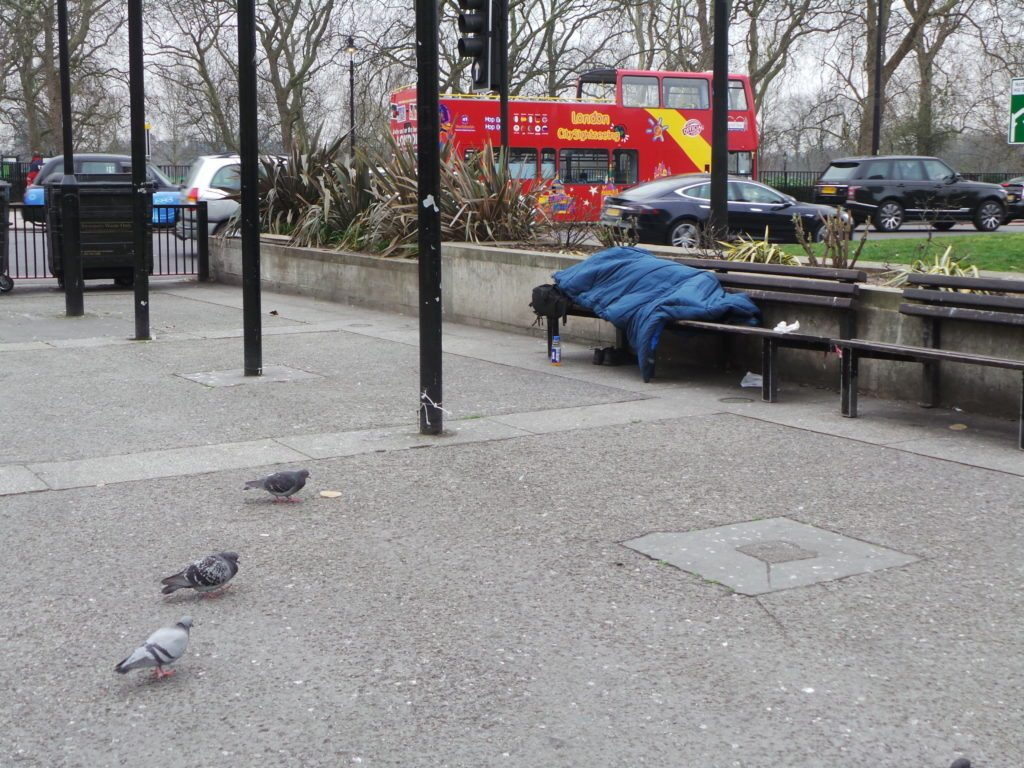Support for Marble Arch's Homeless Community
