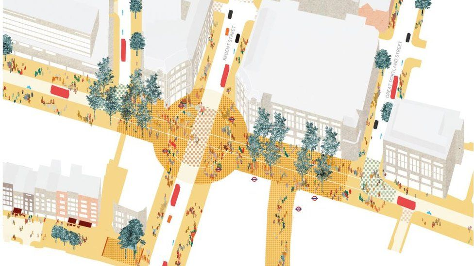 Oxford Street's Proposed Piazzas